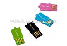 2013 OEM USB flash drive/pen drive mini Pico Mini USB drive clip sticks pen drive waterproof Mini Pen