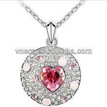 flash pendant necklacefashion diamon crystal beautiful design necklace