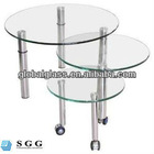High quality glass contemporary coffee tables factory with ISO CCC CE