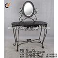 un buen diseño vintage de madera mesa de tocador con espejo