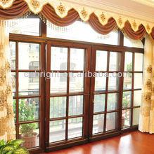 Aluminum clad wood tilt & sliding constant temperature double insulating glass door