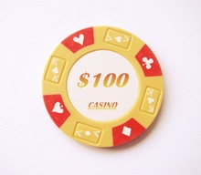 14g 3color Clay Ace-King Suited Logo Printed Poker Chip