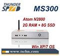 Mini PC sin ventilador con RS232 MS300 con Intel Atom N2800 Dual Core 1.86Ghz Processor 2GB RAM 8GB SSD SO Win 7 Ultimate