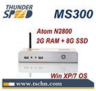 2014 Newest X86 Mini PC MS300 with Intel Atom D2550/N2800 Dual Core 1.86Ghz CPU 2GB RAM 8GB SSD Win 7 Ultimate OS
