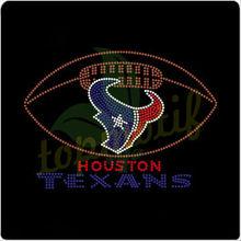 Football with Texan team logo t-shirt rhinestone designs