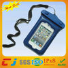 Hot sell pvc waterproof cell phone bag for iphone4/4s with string
