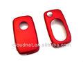 rojo metálico de plástico duro remoto sin llave llave fob flip clave de caso de la protección de la cubierta del teclado oval para vw volkswagen golf mk4 jetta