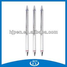 2 in 1 Pen Stainless Steel Engraved Twist Ball Pen