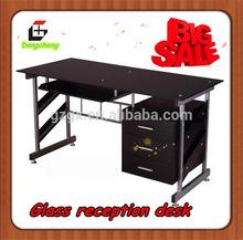 GX-606 Modern Glass reception desk filing cabinet, office furniture