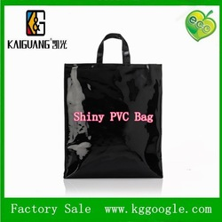 Hot sale Famous Shiny PVC shopping tote bags