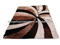 2015 neues design rippe seide Teppich/modernes design shaggy teppich