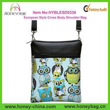 Girls Small cute cross body sling bag Owl Canvas Shoulder Bag