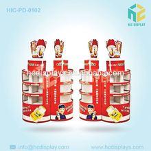 Papelão ondulado publicidade móveis para goma de mascar