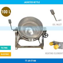 Oil Jacketed Cooking Pot - 100 L, Electric, Tiltable, Without Agitator, TT-JK-ET100