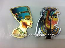 Eygpt souvenir gold foil fridge magnet