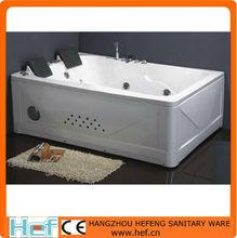 HEF Two People Free Standing Radio Rectangle Couple Love Bathtub