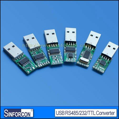 Adaptateur convertisseur usb uart série, cp2102, ft232, pl2303, usb uart 232/ttl/485 carte convertisseur
