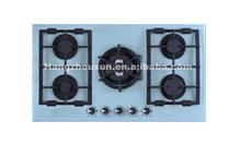 5 burner hot selling built in tempered glass gas hob