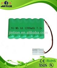 NiMh AA 1200mAh 7.2v rechargeable battery packs