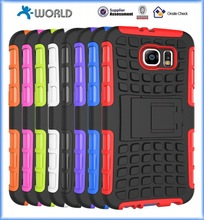 2 in 1 Armor KickStand TPU&PC cell phones Combo case covers for Samsung Galaxy S6 I9700