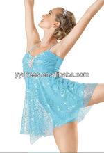 Teen Girl Lyrical Dress Stage Ballet Costume