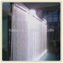 white waterfall crystal led fiber optic wedding light curtain