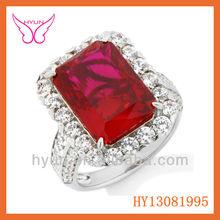 2015 Fashion Ruby Finger Ring Albaba Ruby Finger Ring For Sale Ruby Finger Ring For Women