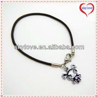 fashion make leather cord bracelets plain leather bracelet leather pewter bracelet