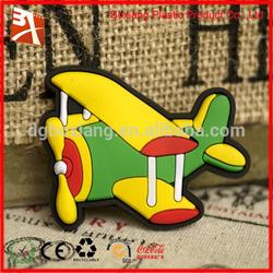 Cheap custom airplane shape 3d soft rubber pvc fridge magnet/custom