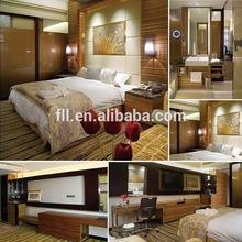 2015 China Hot sales wooden bedroom furniture set in dexury hotel bedroom suite (FLL-TF-010)