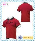 mens raw printed pique 100% cotton polo shirt