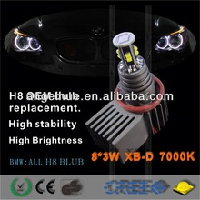 canbus Aluminium alloy,headlight auto part CREE 20w,NO FM Interference led marker for BMW E90/E91 led angel eyes for bmw e39