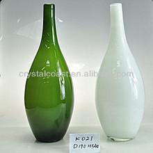 wholesale hand blown;tall tabletop decor vietnamese pot antique polish simple and elegant flower arrangements;tinted glass vase