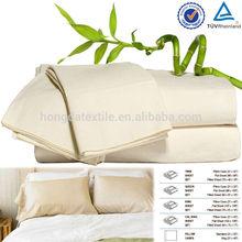 100% organic bamboo sheet set/pure bamboo bed sheets Wholesale