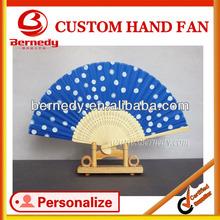 Hand Made Curve ribs black silk bamboo fan