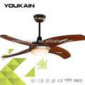 48 pulgadas ventilador de techo decorativo con madera natural