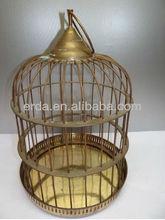 Vintage Beautiful Metal Large Hanging Bird Cage