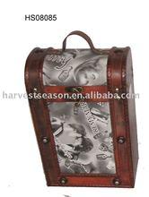 antique wooden wine carrier