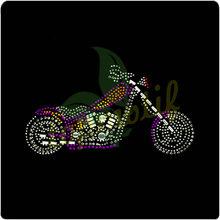 Smart Rhinestones Heat Transfer Motorcycle Hotfix Motif For Fashion Accessory