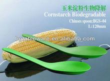 Colher descartável colher de amido de milho resina talheres 120 mm chinês