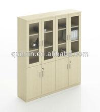 Hot sale cheap melamine office swing glass door combination filing cabinet