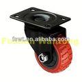 Red poliuretano Industrial Rotating gabinete rodízios com moldura preta