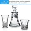 RCR square whisky glassware; bohemia crystal czech republic; machine made chivas whisky glass