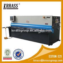 E21S NC system hydraulic shearing machine , sheet metal cutting machine QC12K 6X3200