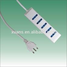 5way Italy type multi socket to 3pin power plug