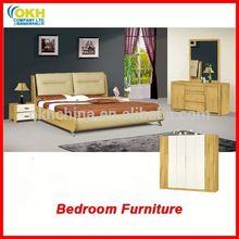 grossista china dupla cama mobília do quarto
