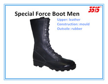men mould military black leather special force boot