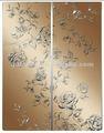 Arte espejo de la puerta corredera/espejo decorativo para la partición de