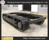 Steel rubber track undercarriage / Crawler undercarriage spare part / rubber steel track chassis from 0.5Ton to 120Ton