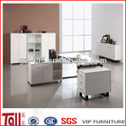 fashionable furniture with cabinet cheap simple design office table durable cheap workstation